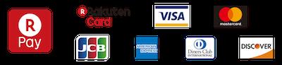 クレジットカード(VISA MASTER JCB AMEX DINARS JCB)でもお支払いいただけます